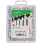 HOMEPAK Flat Head Square Drive Wood Screws Assortment