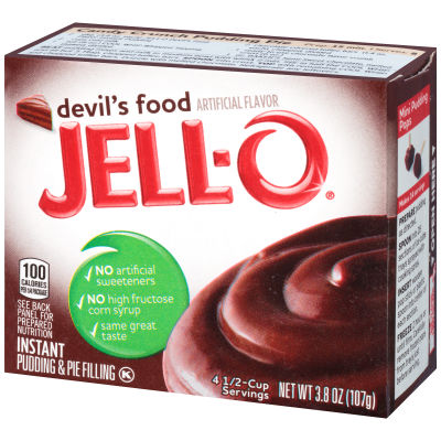 Jell-O Instant Devil's Food Pudding & Pie Filling 3.8 oz Box