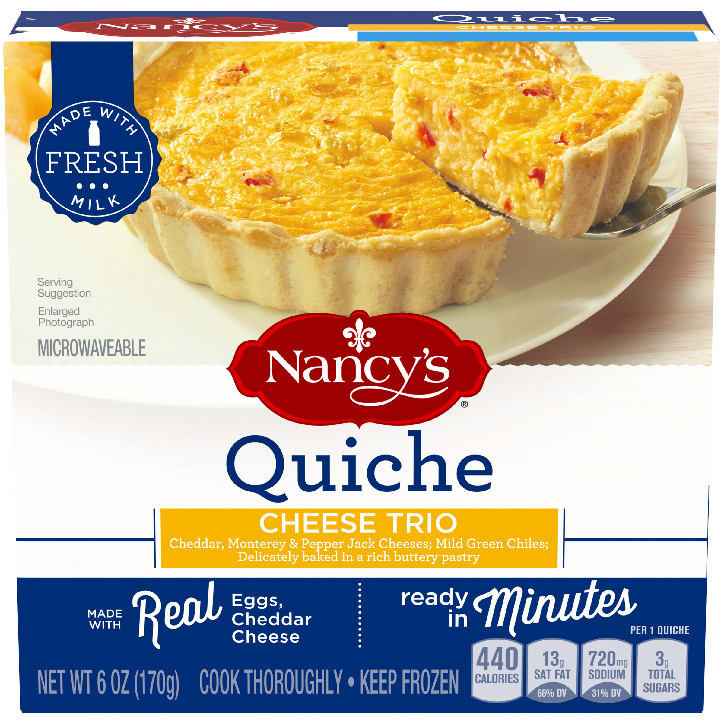 Nancy's(r) Quiche Cheese Trio 6 oz. Box