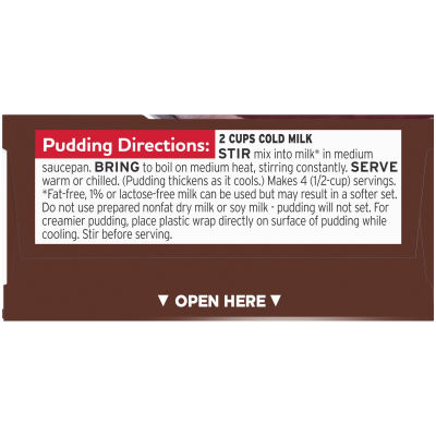 Jell-O Cook & Serve Chocolate Fudge Pudding & Pie Filling 3.4 oz Box