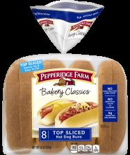 Pepperidge Farm® Hot Dog Rolls - Top Sliced