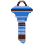 WacKey Blue Stripe Key Blank