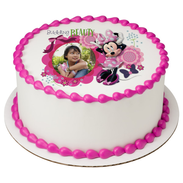 Minnie Mouse Budding Beauty PhotoCake® Edible Image® Frame