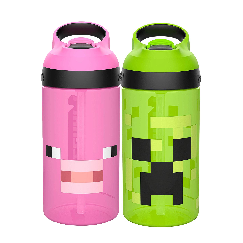 Minecraft 16 ounce Water Bottle, Creeper & Pig, 2-piece set slideshow image 8