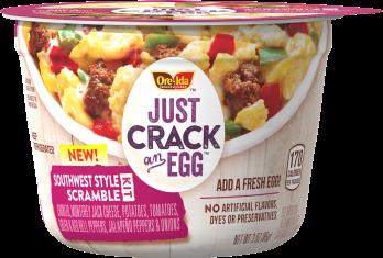 Microwave Scrambled Egg Breakfast Bowls Just Crack An Egg