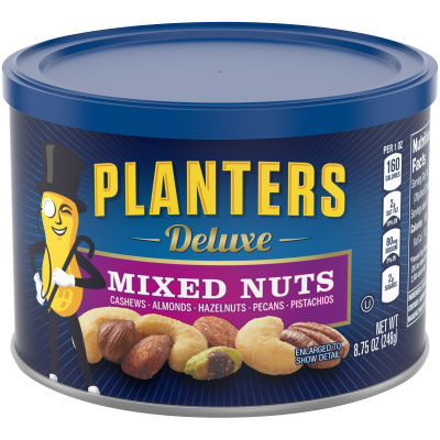 Planters Deluxe Mixed Nuts 8.75 oz Canister