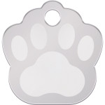 Chrome Small Paw Quick-Tag