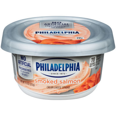 Philadelphia Smoked Salmon Cream Cheese Spread 7.5 oz Tub