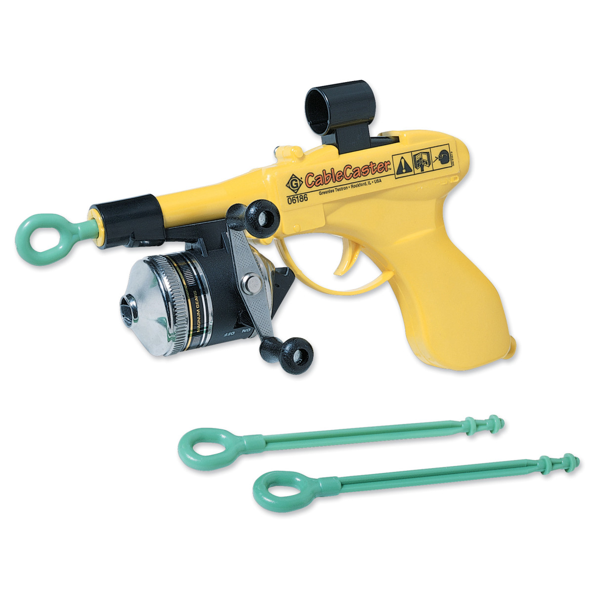 GRT06186 CABLECASTER WIRE PULLING TOOLWITH THREE DARTS, GREENLEE