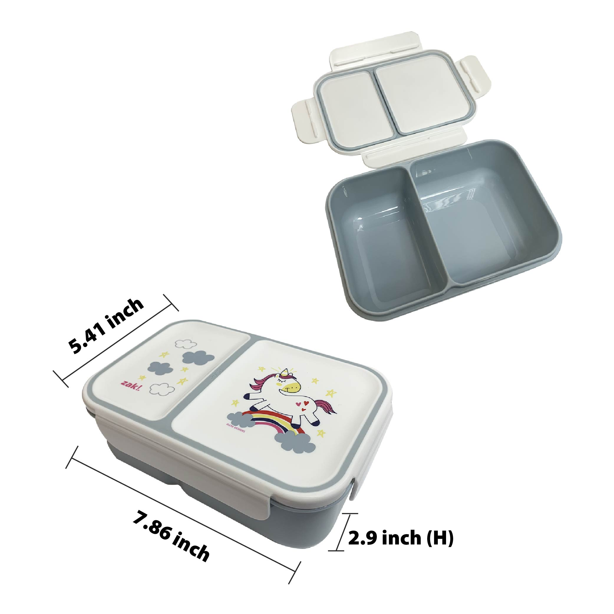 Happy Things Dual-compartment Reusable Bento Box, Unicorns slideshow image 5