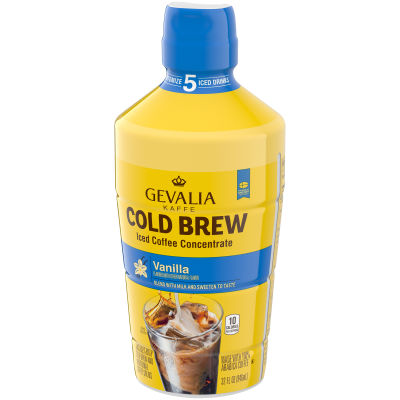 Gevalia Cold Brew Concentrate Vanilla Iced Coffee, 32 fl oz Bottle