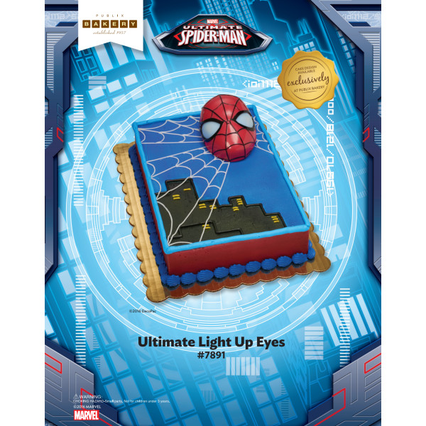 SPIDER-MAN ULT LIGHT UP EYES-PUBLIX TMOC PAGE The Magic of Cakes® Page
