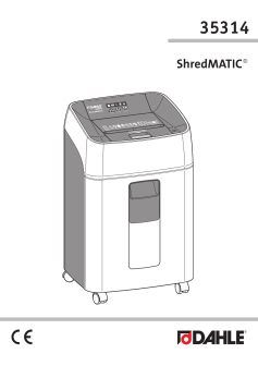 Dahle ShredMATIC® 35314 Shredder User Guide