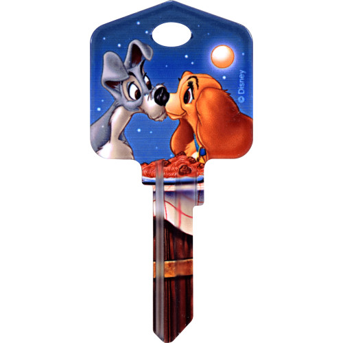 Disney Lady & The Tramp Key Blank Kwikset 66/97 KW1/10
