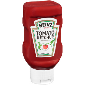 HEINZ Ketchup, 14 oz. FOREVER FULL Inverted Bottles (Pack of 16) image