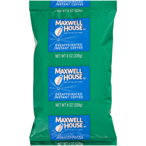 MAXWELL HOUSE Instant Soluble Decaffeinated Coffee, 8 oz. Bag (Pack of 12) image