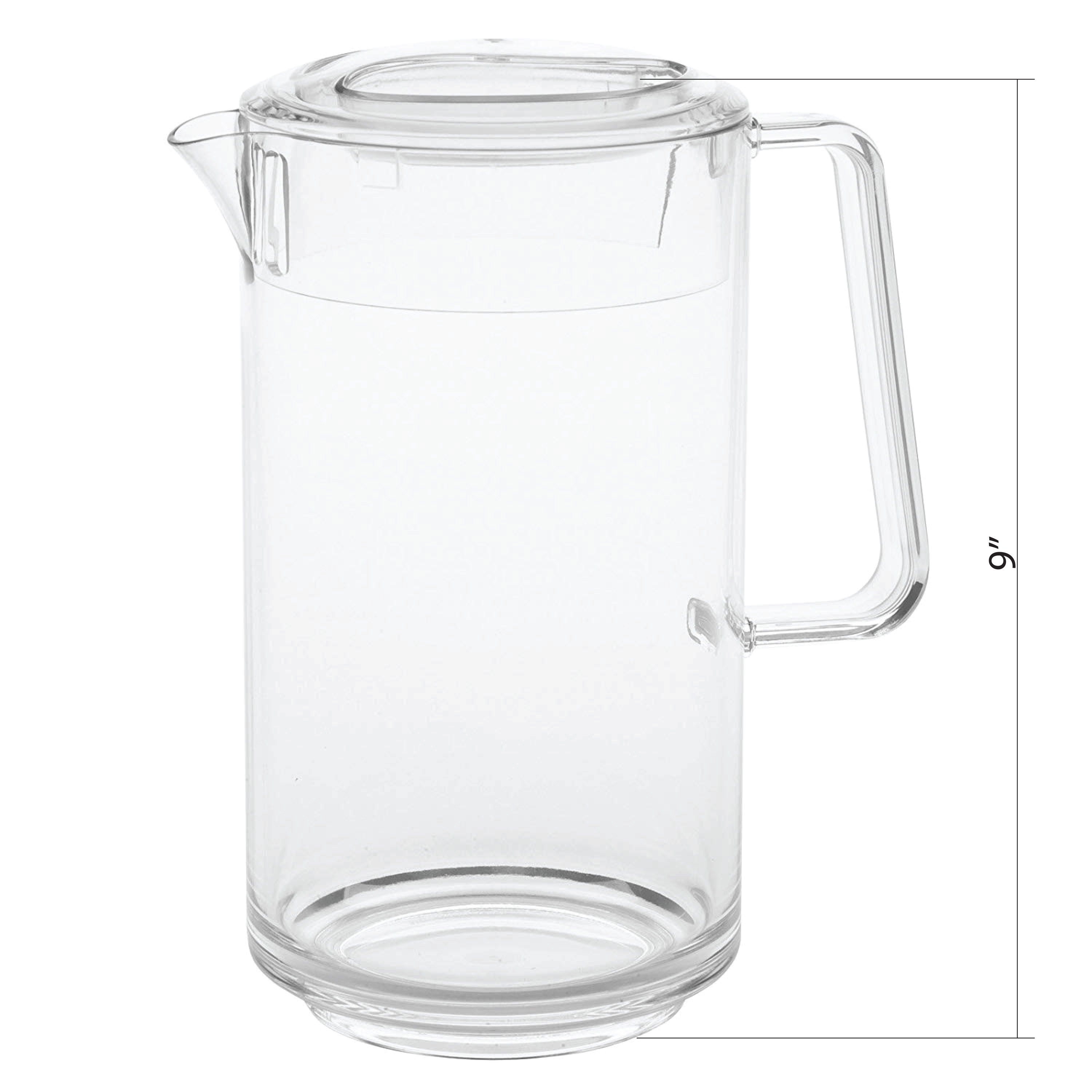 Zak Tabletime 2 quart Water Pitcher, Clear slideshow image 4