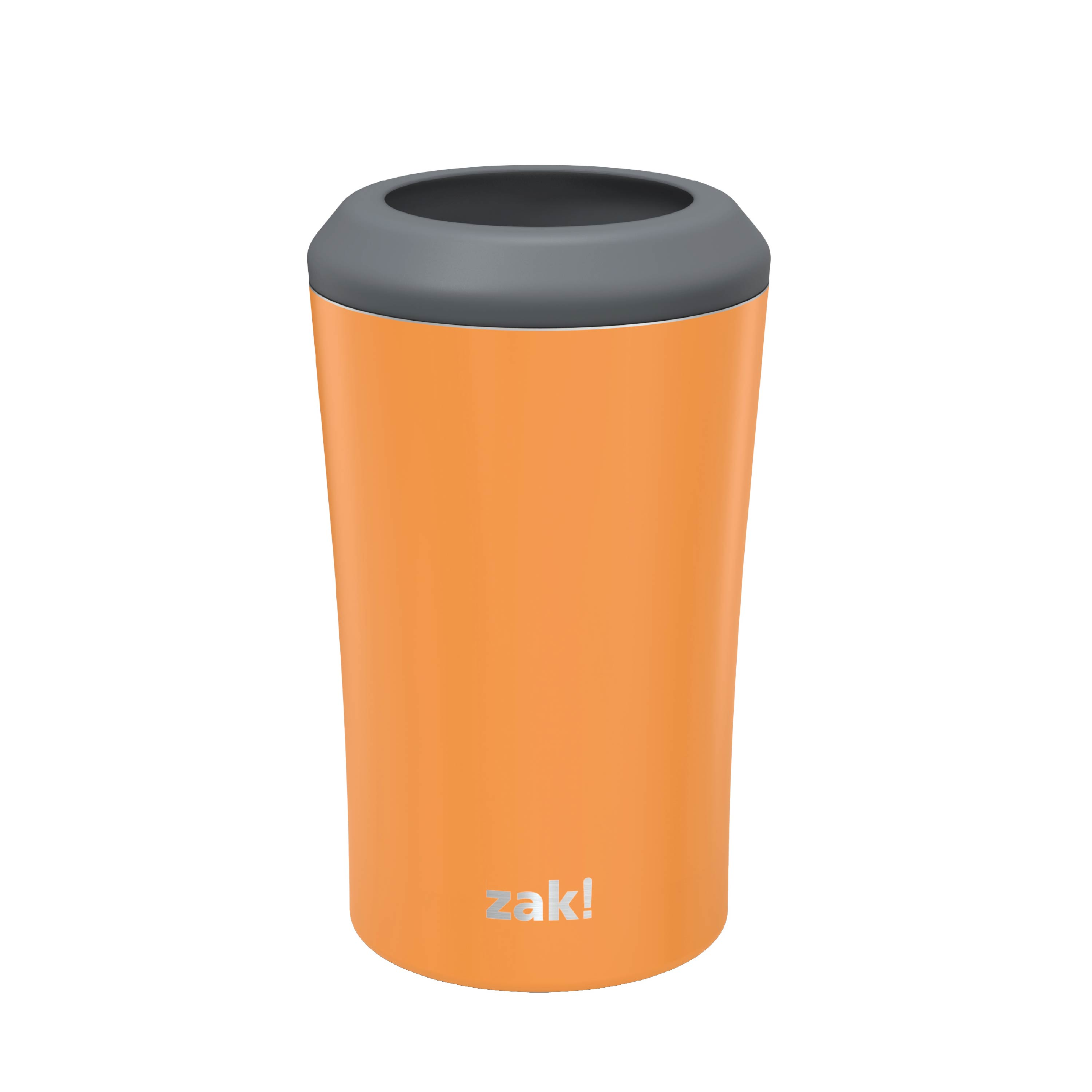 Zak Hydration 12 ounce Double Wall Stainless Steel Can and Bottle Cooler with Vacuum Insulation, Tangerine image
