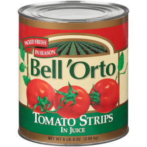 BELL ORTO Peeled Tomato Strips, 102 oz. Can (Pack of 6) image