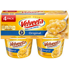 Velveeta Original Shells & Cheese, 4 - 2.39 oz Cups