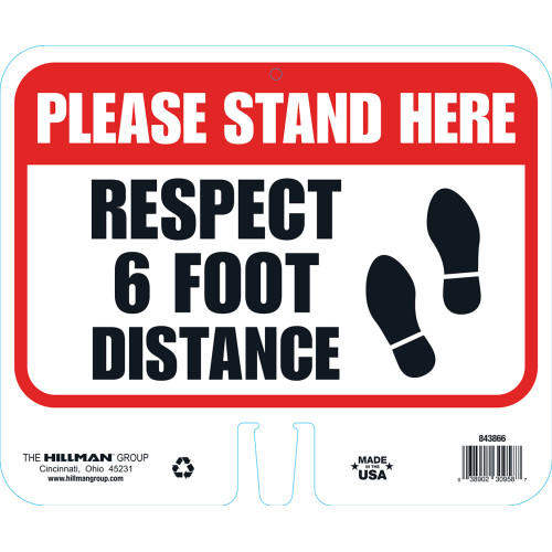 Hillman Respect Physical Distancing Sign (10