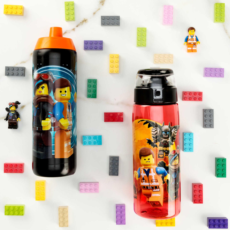 LEGO Movie 2 25 ounce Water Bottle, Batman, Wyldstyle & Emmet, 2-piece set slideshow image 9