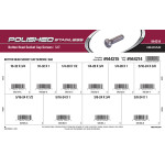 Polished Stainless Button-Head Socket Cap Screws Assortment (SAE)