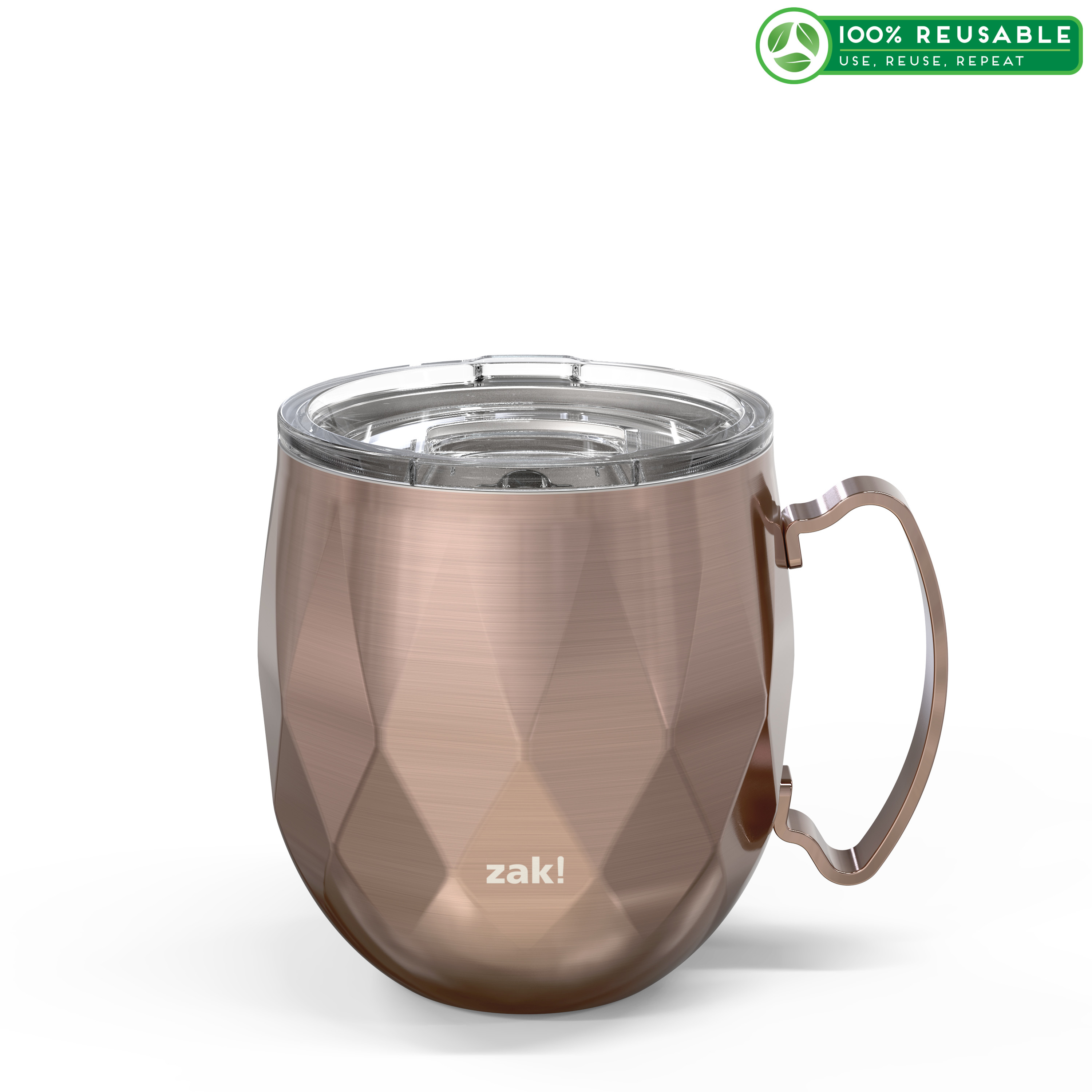 Fractal 19 ounce Vacuum Insulated Stainless Steel Tumbler, Rose Gold slideshow image 1