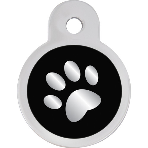 Black Epoxy Paw Small Circle Quick-Tag 5 Pack