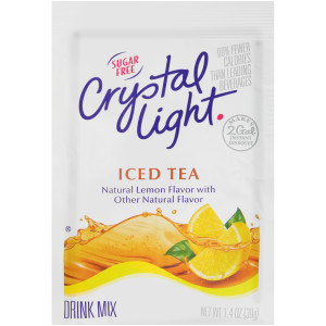CRYSTAL LIGHT Sugar Free Iced Tea Powdered Beverage Mix, 1.4 oz. Pouch (Pack of 12) image