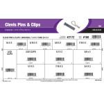 """Universal Clevis Pins & Clips Assortment (1/4"""" x 2"""" thru 3/4"""" x 3"""")"""