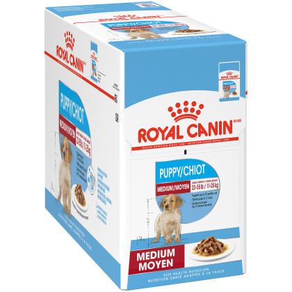 Royal Canin Size Health Nutrition Medium Puppy Pouch Dog Food