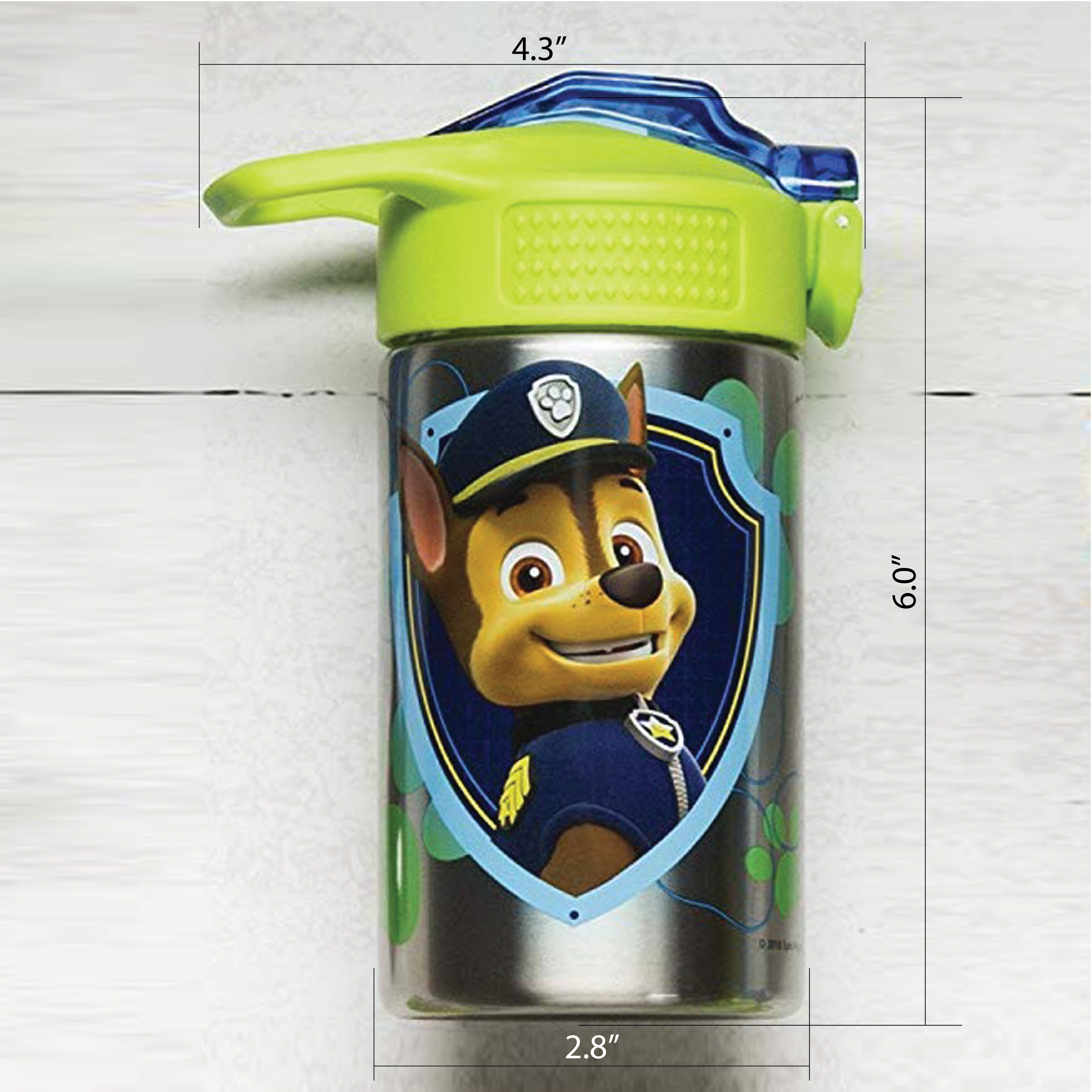 Paw Patrol 15.5 ounce Water Bottle, Chase and Marshall slideshow image 4