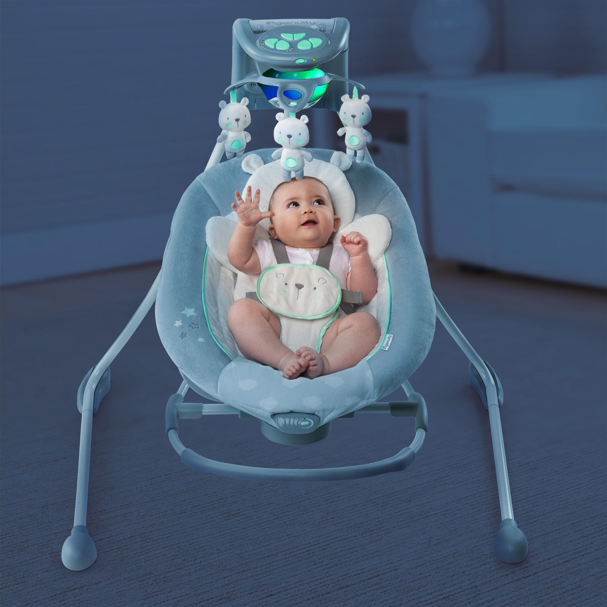 Inlighten Cradling Swing Amp Rocker Twinkle Twinkle Teddy Bear