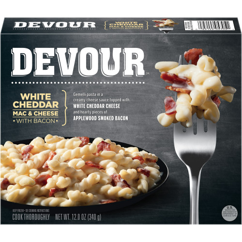 Devour White Cheddar & Bacon Mac n' Cheese, 12 oz.