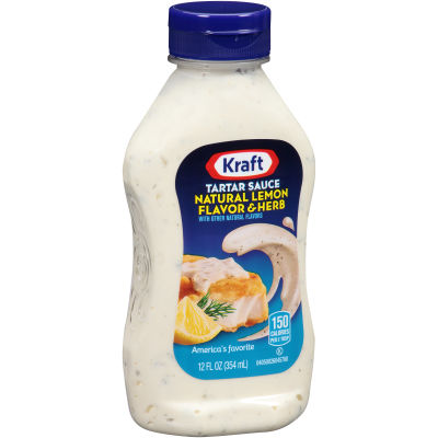 Kraft Natural Lemon Flavor & Herb Tartar Sauce 12 fl oz Bottle