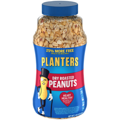Planters Dry Roasted Peanuts 20 oz Jar