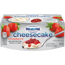 Philadelphia Strawberry Cheesecake Refrigerated Snacks 2 count Sleeve