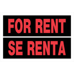 "Spanish / English For Rent Sign (8"" x 12"")"