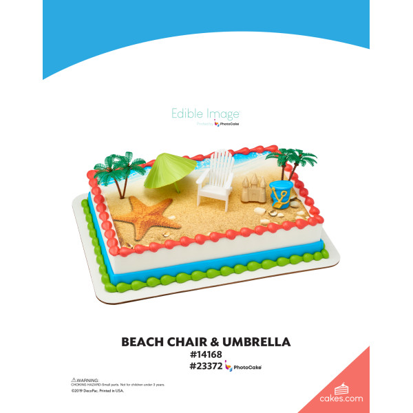Beach Chair & Umbrella DecoSet® The Magic of Cakes® Page