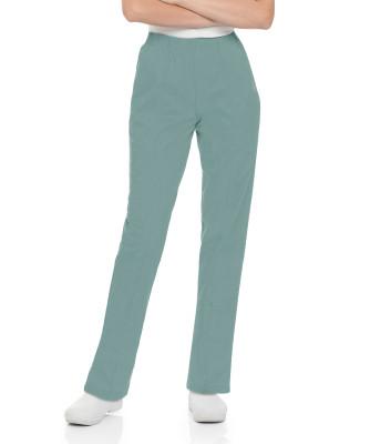 Landau Essentials 2 Pocket Scrub Pants for Women: Classic Relaxed Fit, Elastic Waist 8320-