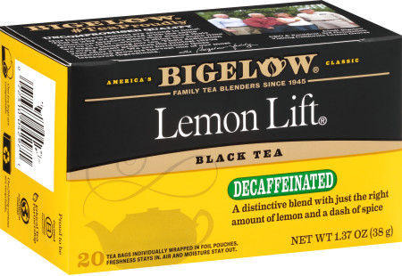 Lemon Lift Decaf - Case of 6 boxes- total of 120 teabags