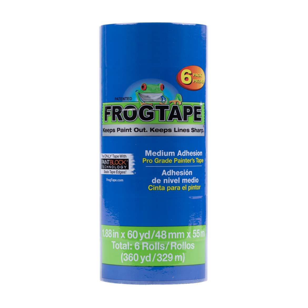 FrogTape® Pro Grade Painter's Tape - Blue, 6 pk, 1.88 in. x 60 yd.