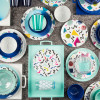 Confetti Salad Plate, Blue slideshow image 4
