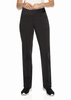 Urbane Impulse Scrub Pants for Women: 4 Pocket, Contemporary Slim Fit, Extreme Stretch Yoga Waist Straight Leg Cargo Medical Scrubs 9207-