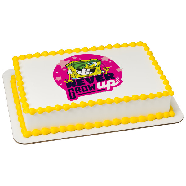 SpongeBob SquarePants™ Never Grow Up PhotoCake® Edible Image®