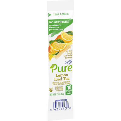 Crystal Light On-The-Go Pure Lemon Iced Tea Drink Mix 0.13 oz Wrapper
