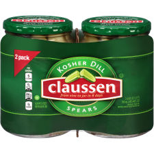 Claussen Kosher Dill Spears Pickles 48 oz Shrink Wrapped