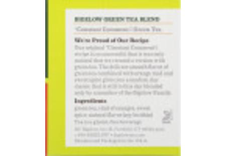 Ingredient panel  of Constant Comment Green Tea box