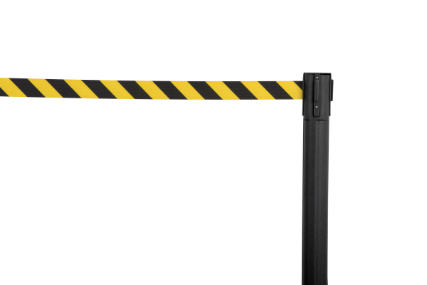 Sentry QS Stanchion - Black with Chevron Belt 8